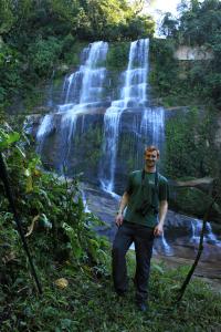 Ian at the Waterfall
