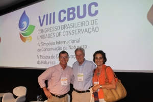 Nicholas and Raquel with George Schaller, US Biologist.