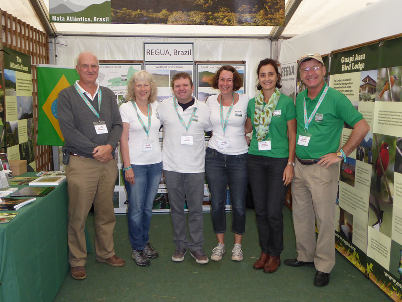 The REGUA stand at Birdfair 2016 (© Edson Endrigo)