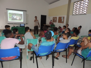 Prof. Maron Galliez and Joana Macedo with Young Rangers