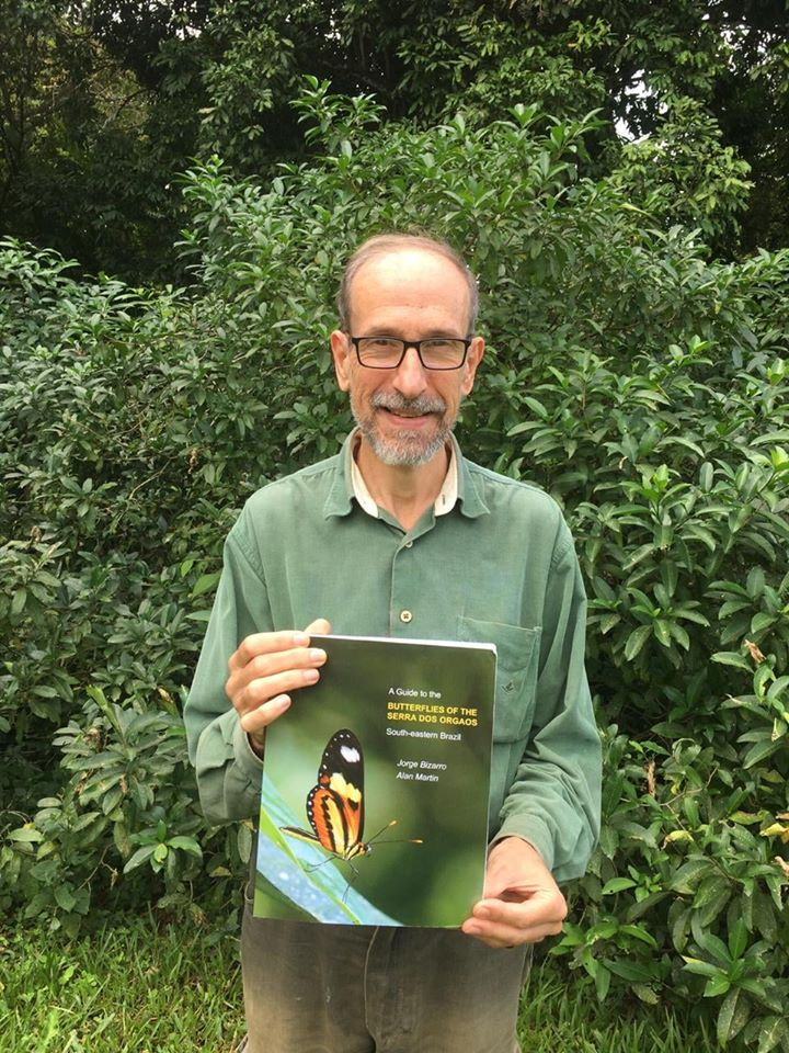 Co-author Jorge Bizarro with our new Guide to the Butteflies of the Serra dos Orgaos, South-eastern Brazil